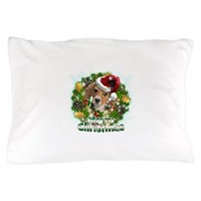 Merry Christmas Beagle.png Pillow Case