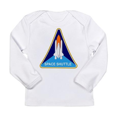 Space Shuttle Shield Long Sleeve Infant T-Shirt