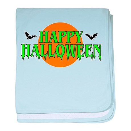 Happy Halloween with bats baby blanket