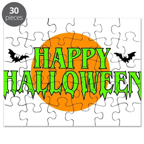 Happy Halloween with bats Puzzle