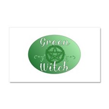 green witch clear.png Car Magnet 20 x 12