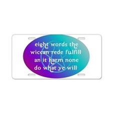 wiccan rede.png Aluminum License Plate