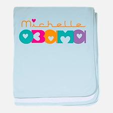 Michelle Obama Hearts baby blanket