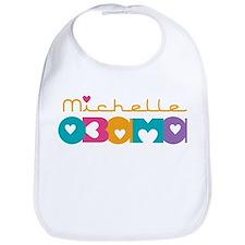 Michelle Obama Hearts Bib