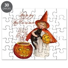 Vintage Halloween witch Puzzle