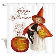 Vintage Halloween witch Shower Curtain