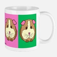 Color Block Guinea Pigs White Mug
