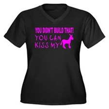 YOU DIDNT BUILD THAT Women's Plus Size V-Neck Dark