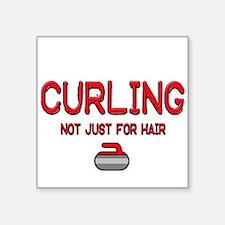 "Curling Square Sticker 3"" x 3"""