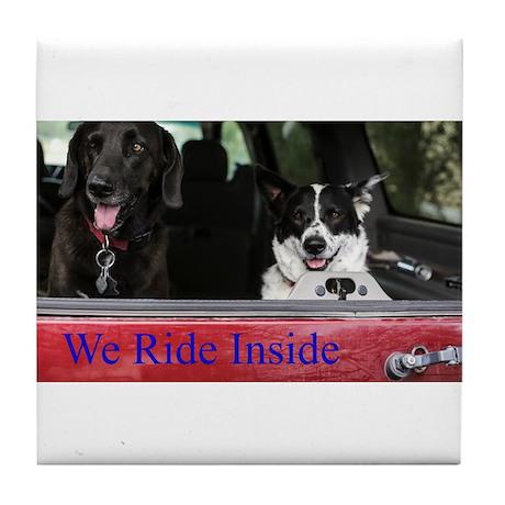 We ride inside Tile Coaster