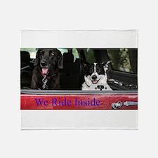 We ride inside Throw Blanket
