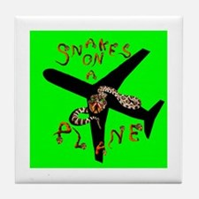 Snakes on a Plane - Now Boarding Tile Coaster