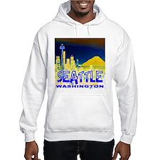 Seattle Washington Golden Skyline Hoodie Sweatshirt