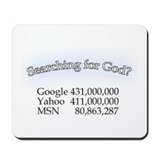 Searching For God Mousepad