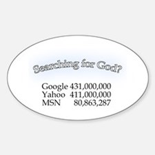 Searching For God Oval Decal