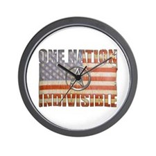 One Nation Indivisible Wall Clock
