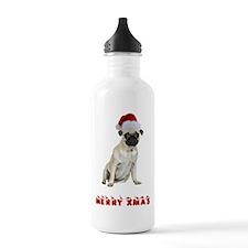 Pug Christmas Water Bottle