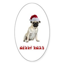 Pug Christmas Decal