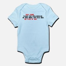 Iphone Scumbag Auto Correct Infant Bodysuit