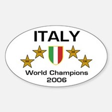 Italy World Champions - Scudo Oval Decal