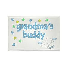 Grandma's Buddy Star Pilot Rectangle Magnet