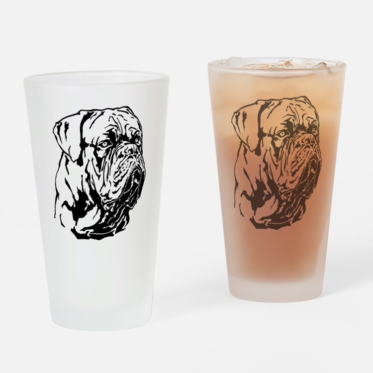 Dogue De Bordeaux. Drinking Glass