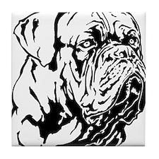 Dogue De Bordeaux. Tile Coaster
