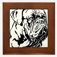 Dogue De Bordeaux. Framed Tile