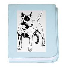 English Bull Terrier baby blanket