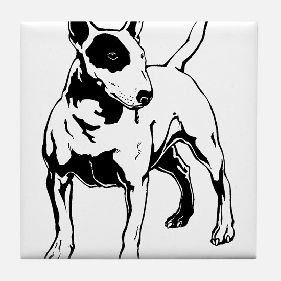 English Bull Terrier Tile Coaster