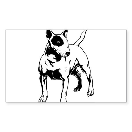 English Bull Terrier Sticker (Rectangle)