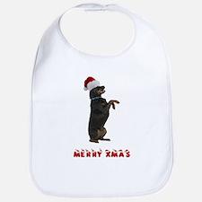 Rottweiler Christmas Bib