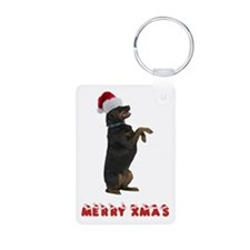 Rottweiler Christmas Keychains