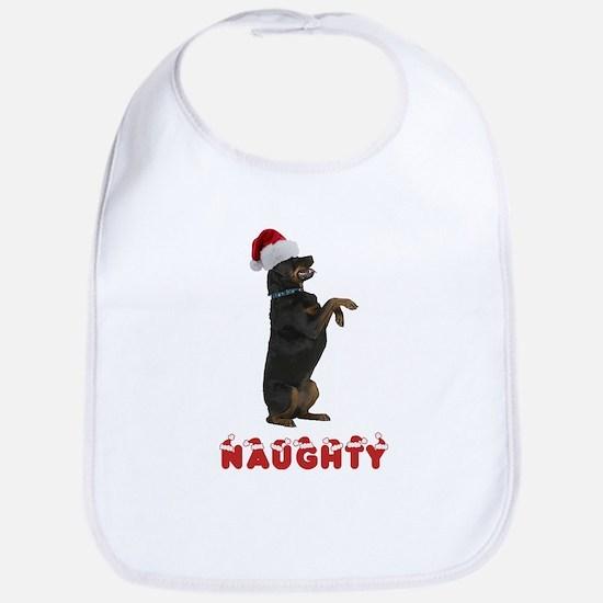 Naughty Rottweiler Bib