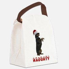 Naughty Rottweiler Canvas Lunch Bag