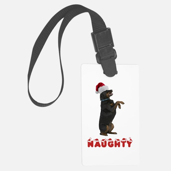Naughty Rottweiler Luggage Tag
