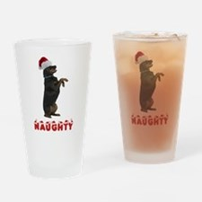 Naughty Rottweiler Drinking Glass