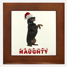Naughty Rottweiler Framed Tile