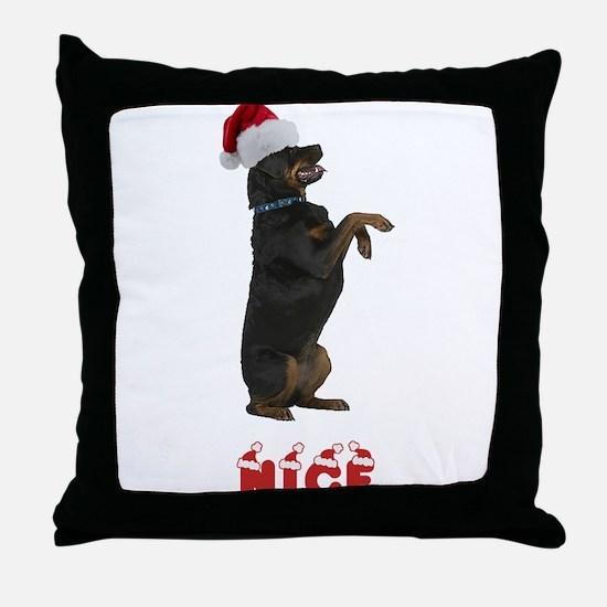 Nice Rottweiler Throw Pillow