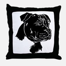 Staffordshire Bull Terrier Throw Pillow