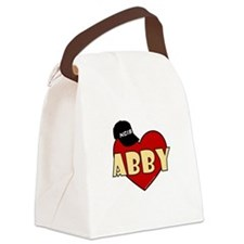 NCIS Abby Heart Canvas Lunch Bag