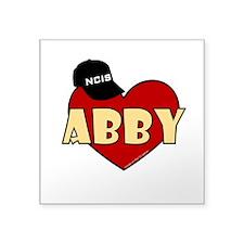 "NCIS Abby Heart Square Sticker 3"" x 3"""