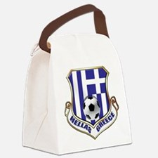 Greece Soccer Shield Canvas Lunch Bag