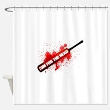 Zombie Aim for the head Shower Curtain
