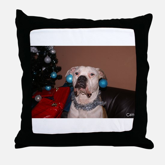 Bulldog Bauble Throw Pillow