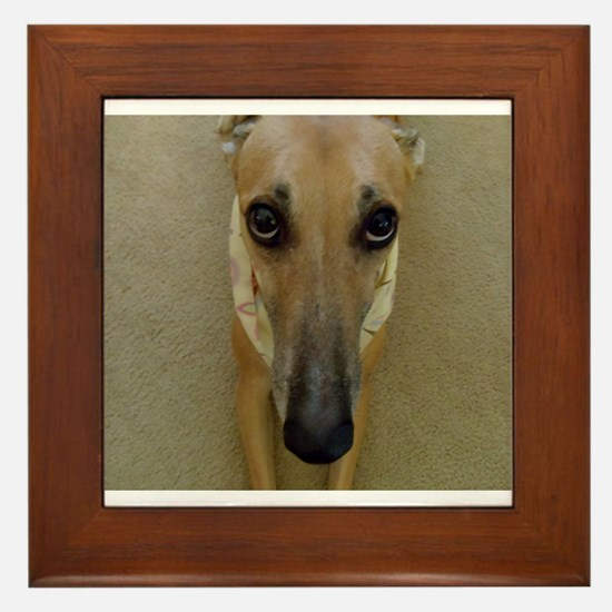 Look of Innocence Framed Tile