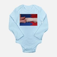 Pitter Patter Paws Long Sleeve Infant Bodysuit