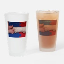Pitter Patter Paws Drinking Glass