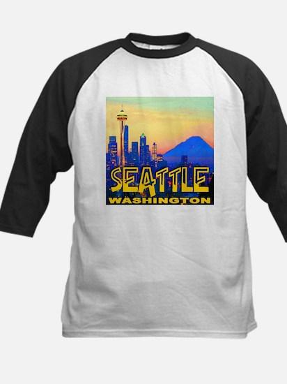 Seattle WA Mt. Rainier Golden Skyline Tee