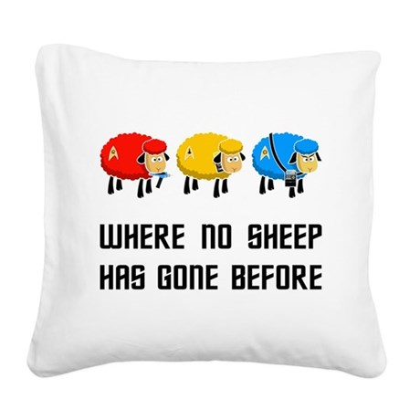Where no Sheep Has Gone Square Canvas Pillow